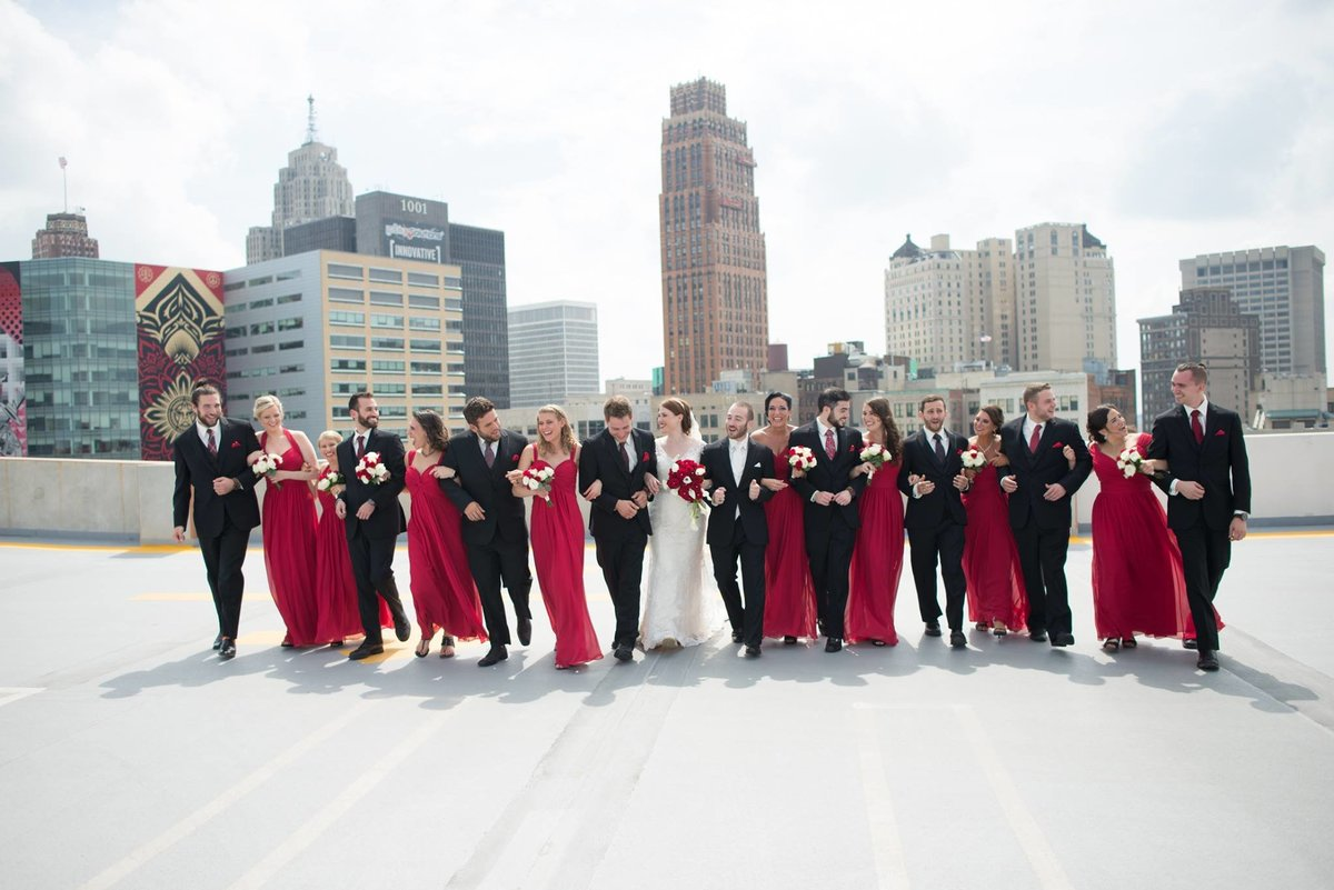 z-lot-parking-garage-wedding-pictures-detroit-wedding-photographer-girl-with-the-tattoos-michigan-wedding-photographer