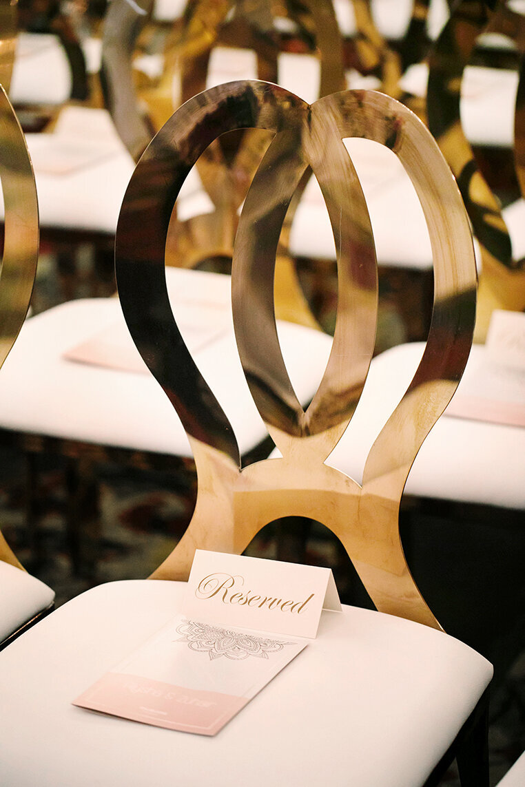 hindu-wedding-ceremony-white-blush-gold-reserved-chair-sign (3)