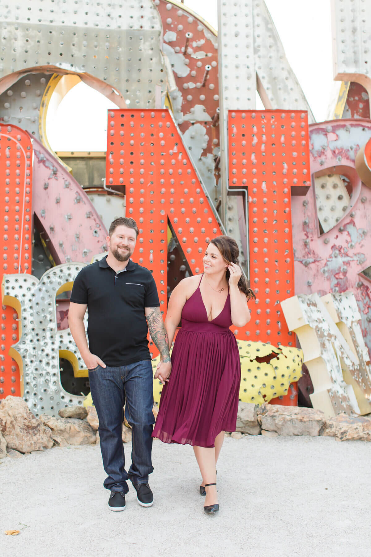 The-Neon-Museum-Las-Vegas-Engagement-Photos