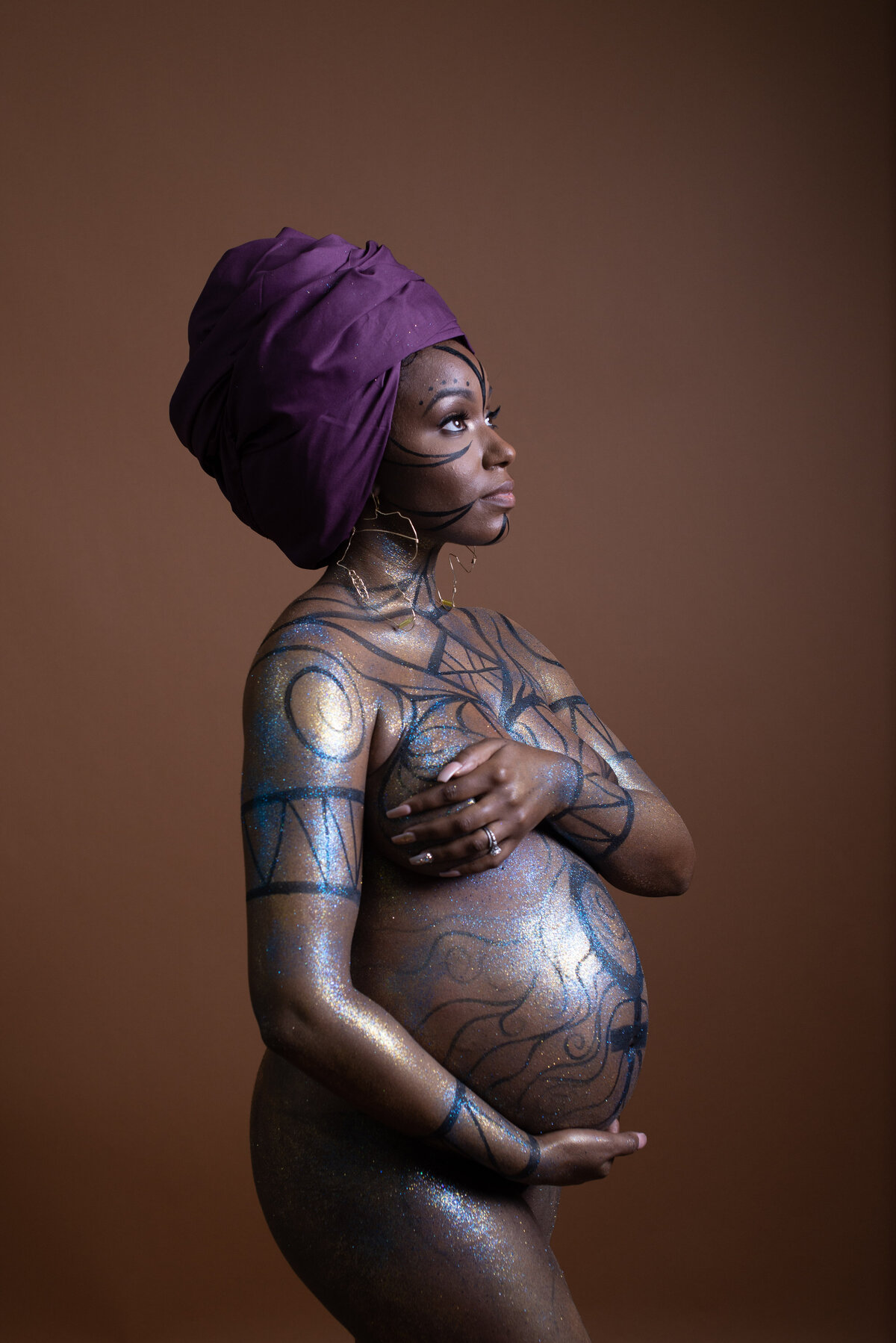 African Inspired Maternity Portrait