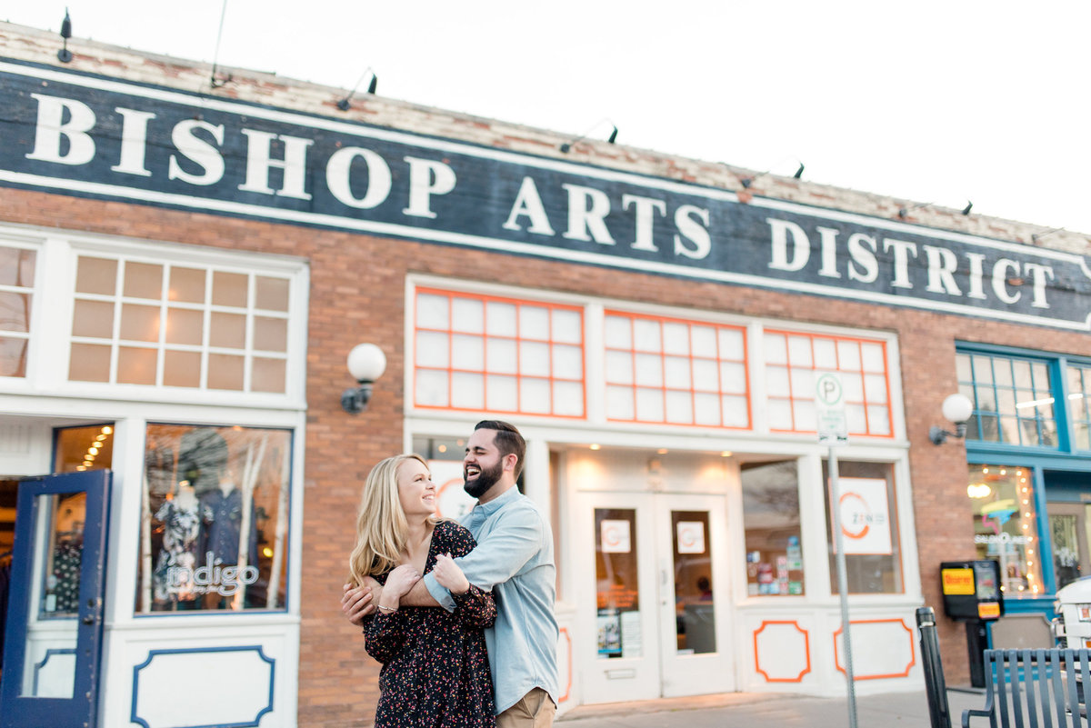 Bishop Arts Engagement Photographer in Dallas
