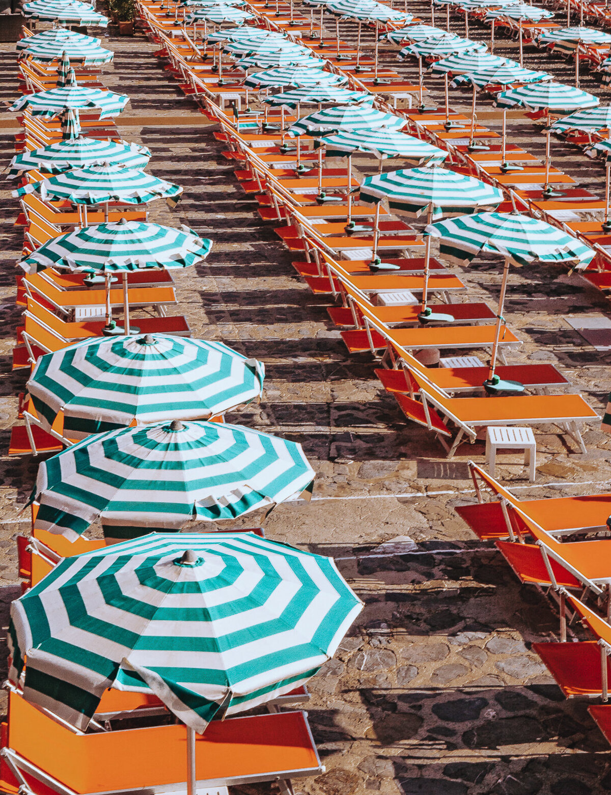 Umbrellas, Italian Riviera (re-edit)