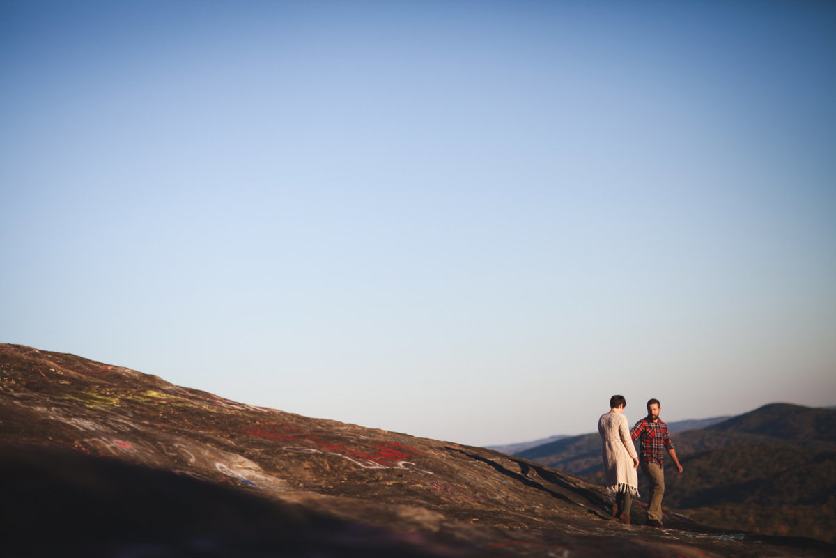 Bald Rock engagement session by Greenville wedding Photographer Simply Violet Photography