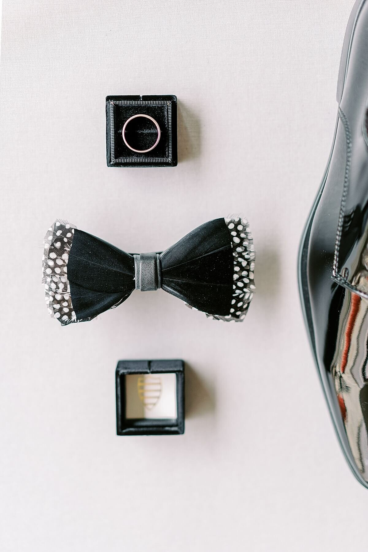 Black and White Wedding Details at The Annex Wedding Venue photographed by Alicia Yarrish Photography