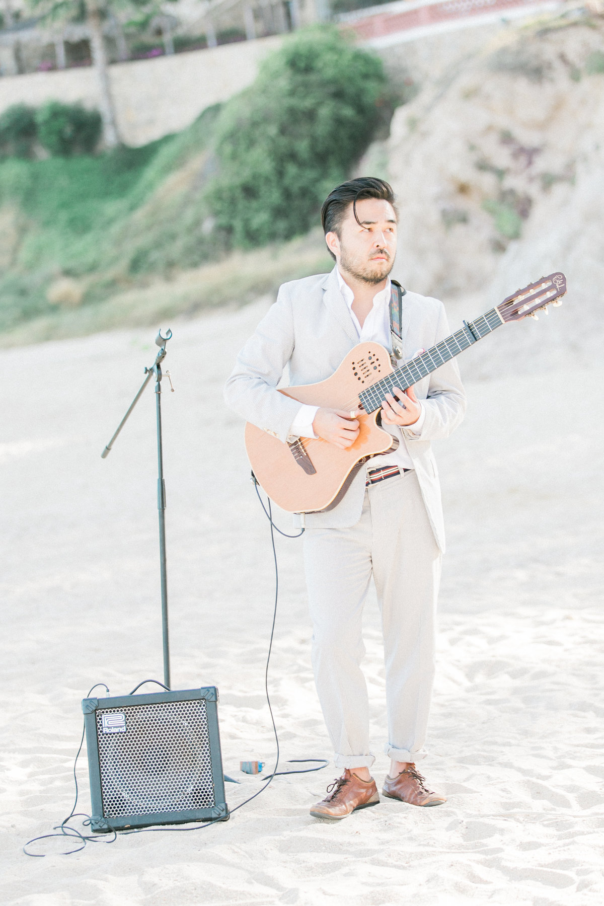 Live Guitar Music Beach Wedding