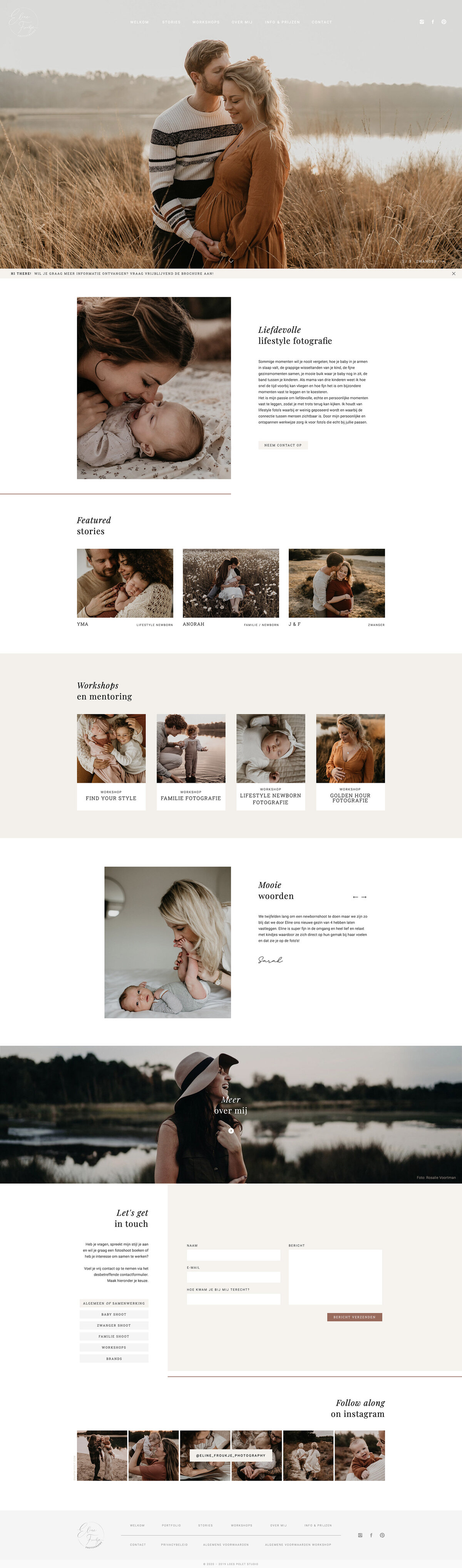 Eline Froukje Photography, Website