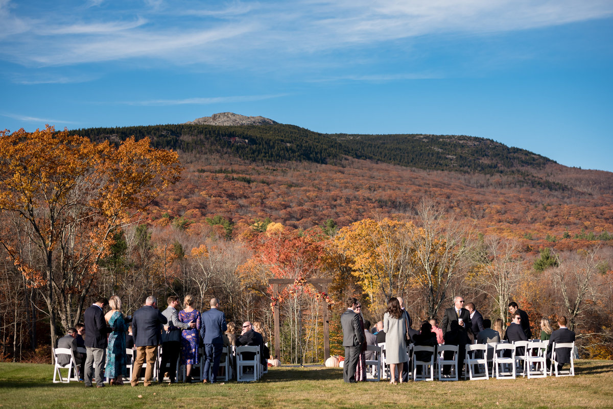 outdoor ceremony venue grand view estate in jaffrey NH