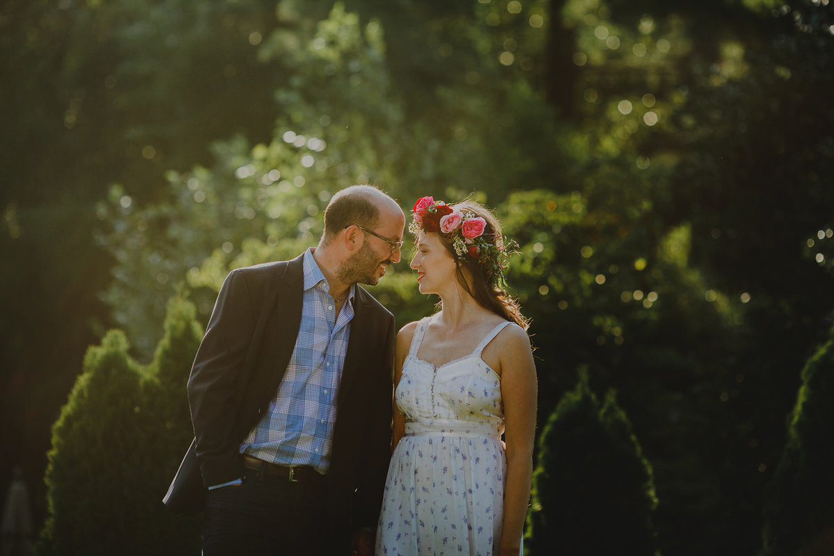 1_Outdoor_Couple_Engagement_Sunset_Boho_Dress_Flower_Crown