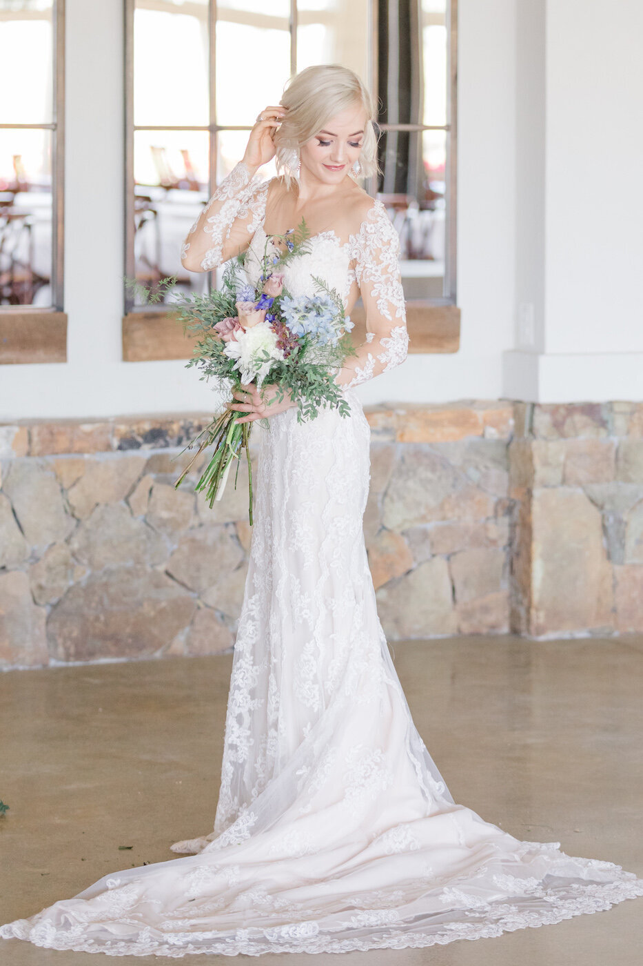 Summer Stone Tower Wedding Bride-4612