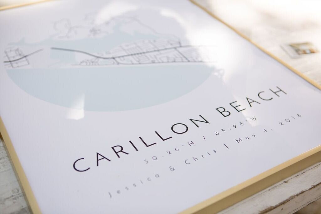 carillon beach wedding map
