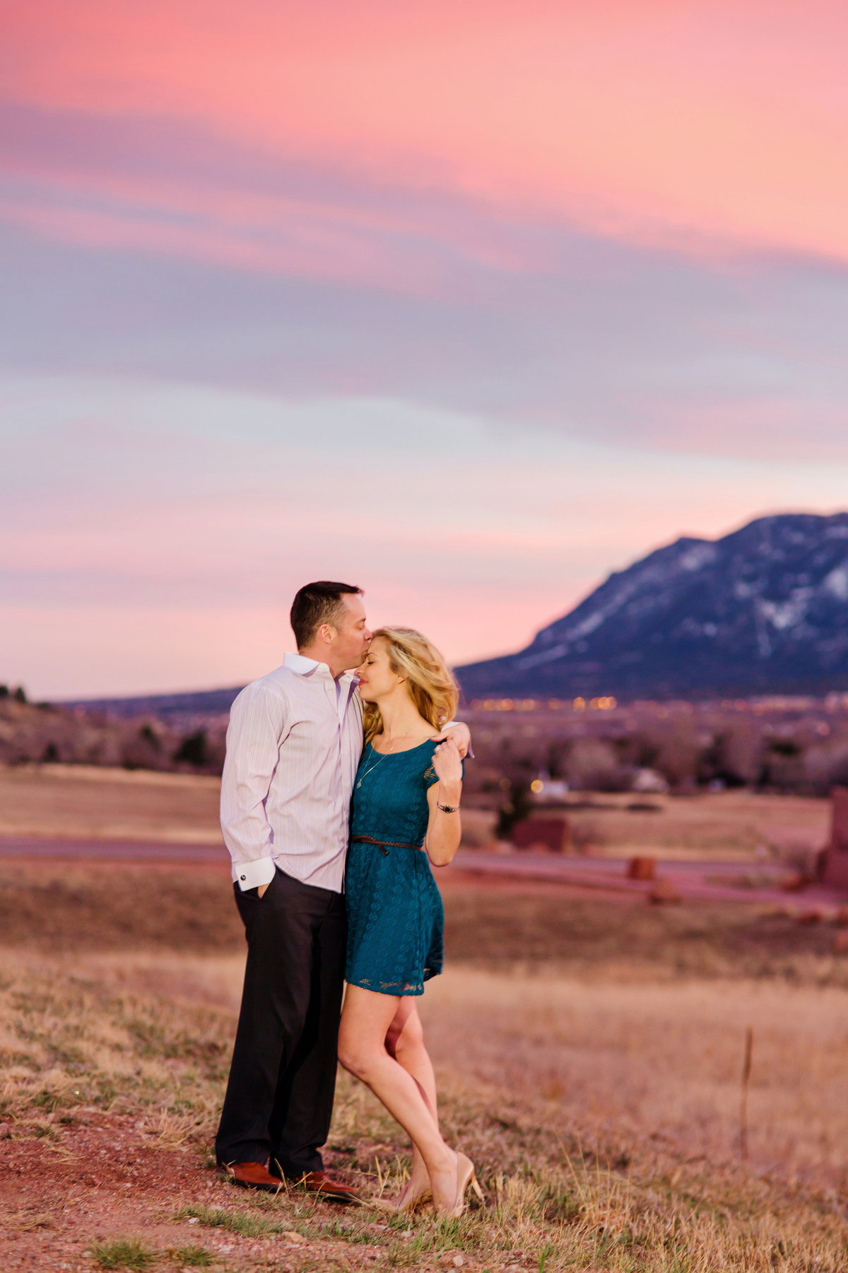 sunset at GOG engagement session