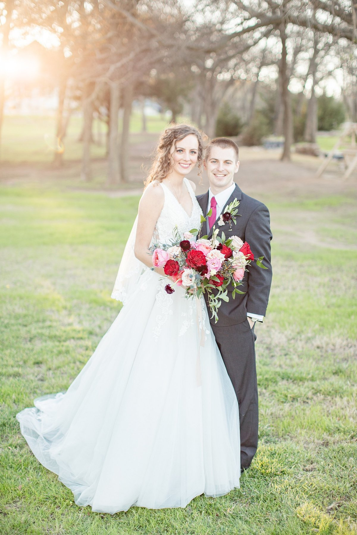 the brooks at weatherford wedding sunset