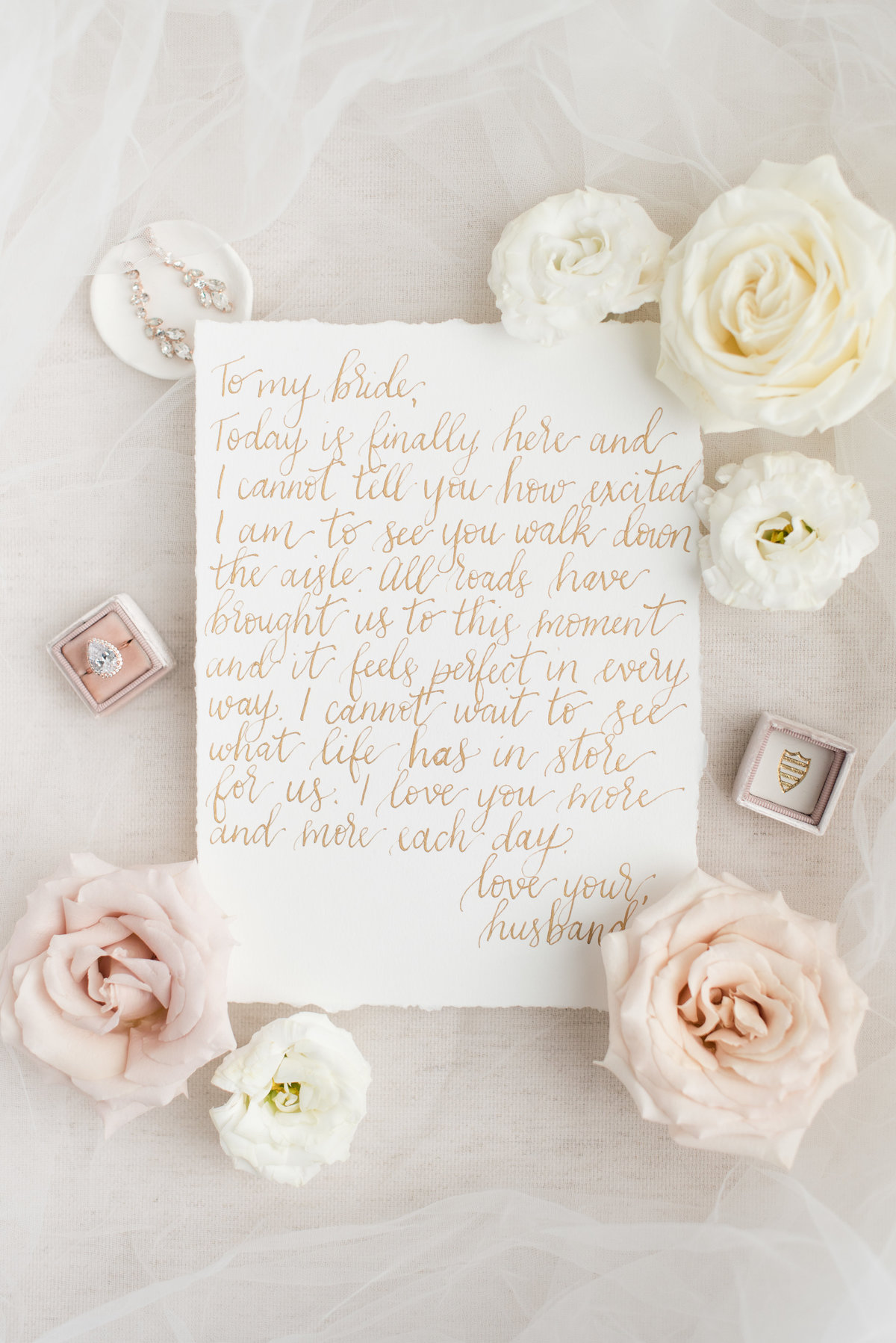 Hand written love note, calligraphy done by Amy Sylvia Designs in Thunder Bay