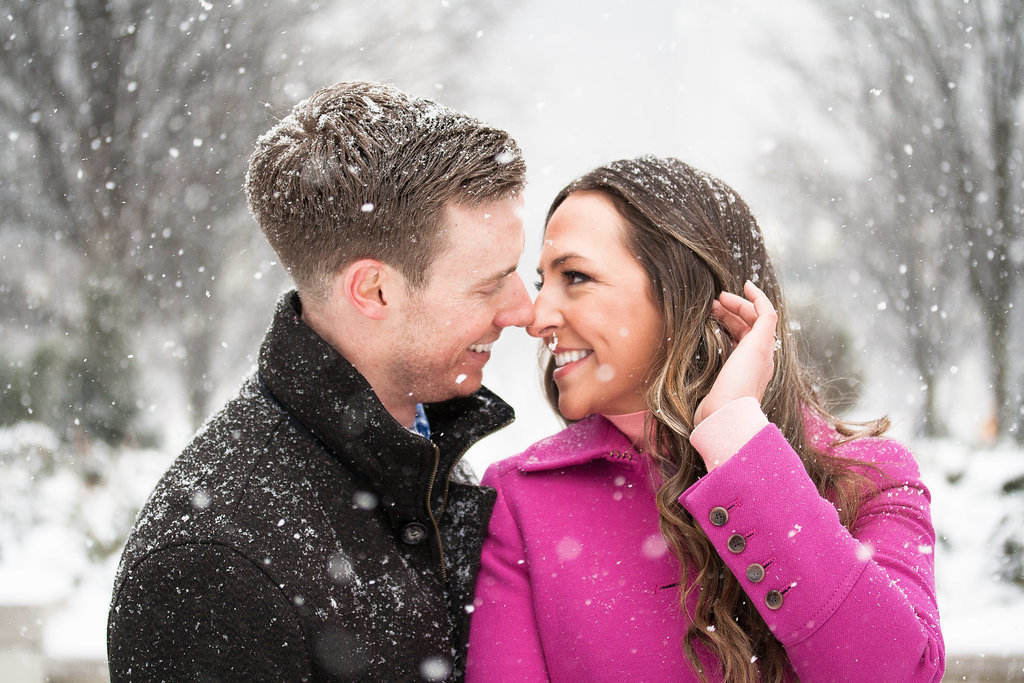 Millennium Park Chicago Illinois Winter Engagement Photographer Taylor Ingles 22