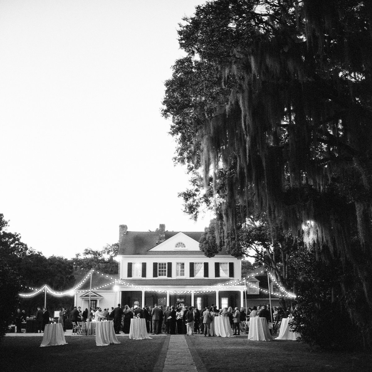 Wedding reception at Legare Waring House in Charleston.