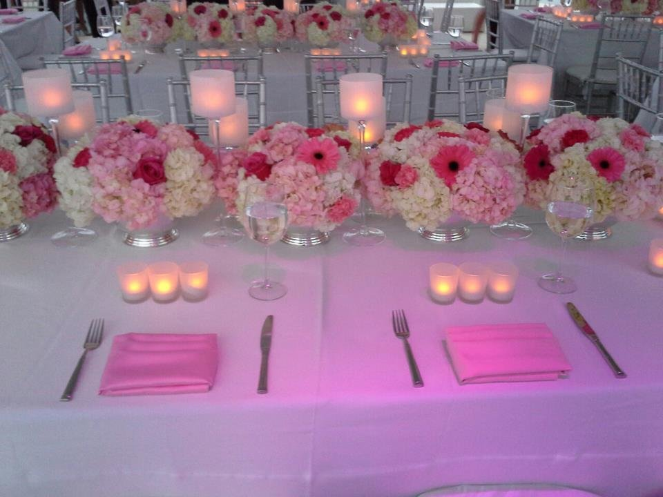 Shades of pink wedding The Skydeck Miami Beach