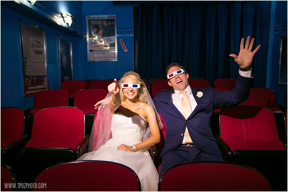 Baltimore Museum of Industry Wedding  Theater 3d glasses