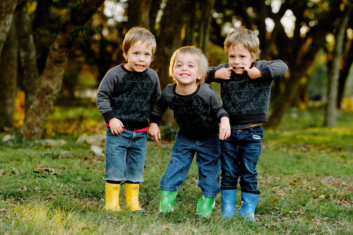 The three amigos family mini session