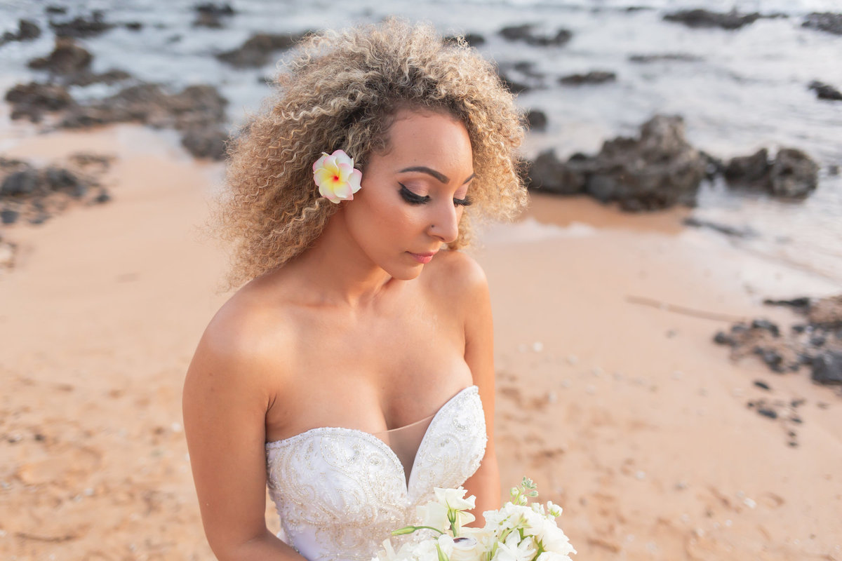 bride maui wedding photography