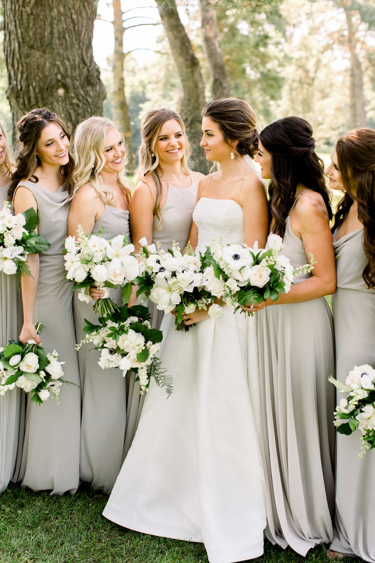 neutral bridesmaid bouquets studio fleurette