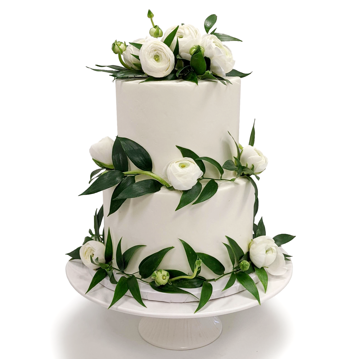 Whippt Kitchen - wedding cake peonies and eucalyptus July 2020 2