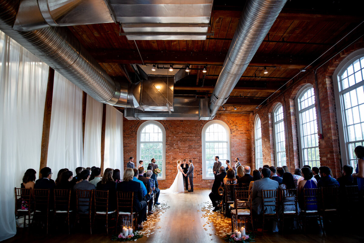 The Cotton Room wedding in Durham, NC