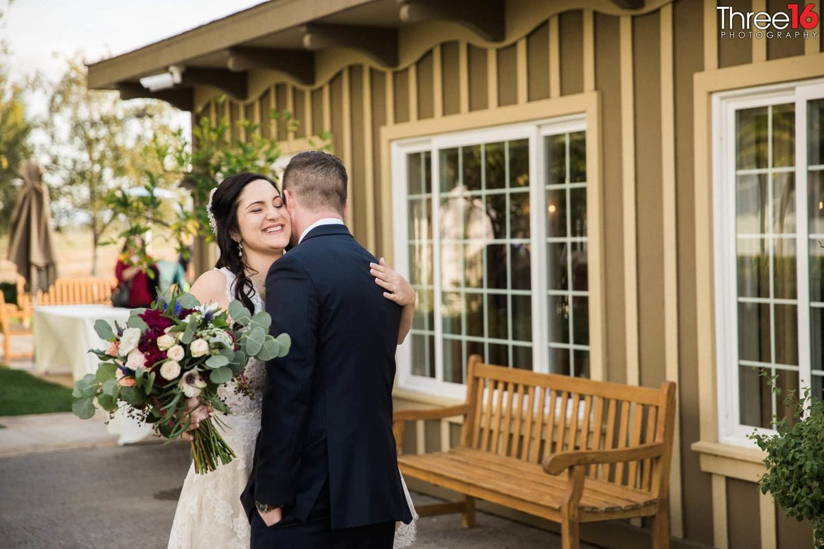 A tender moment at Ponte Winery Wedding Venue in Temecula, CA