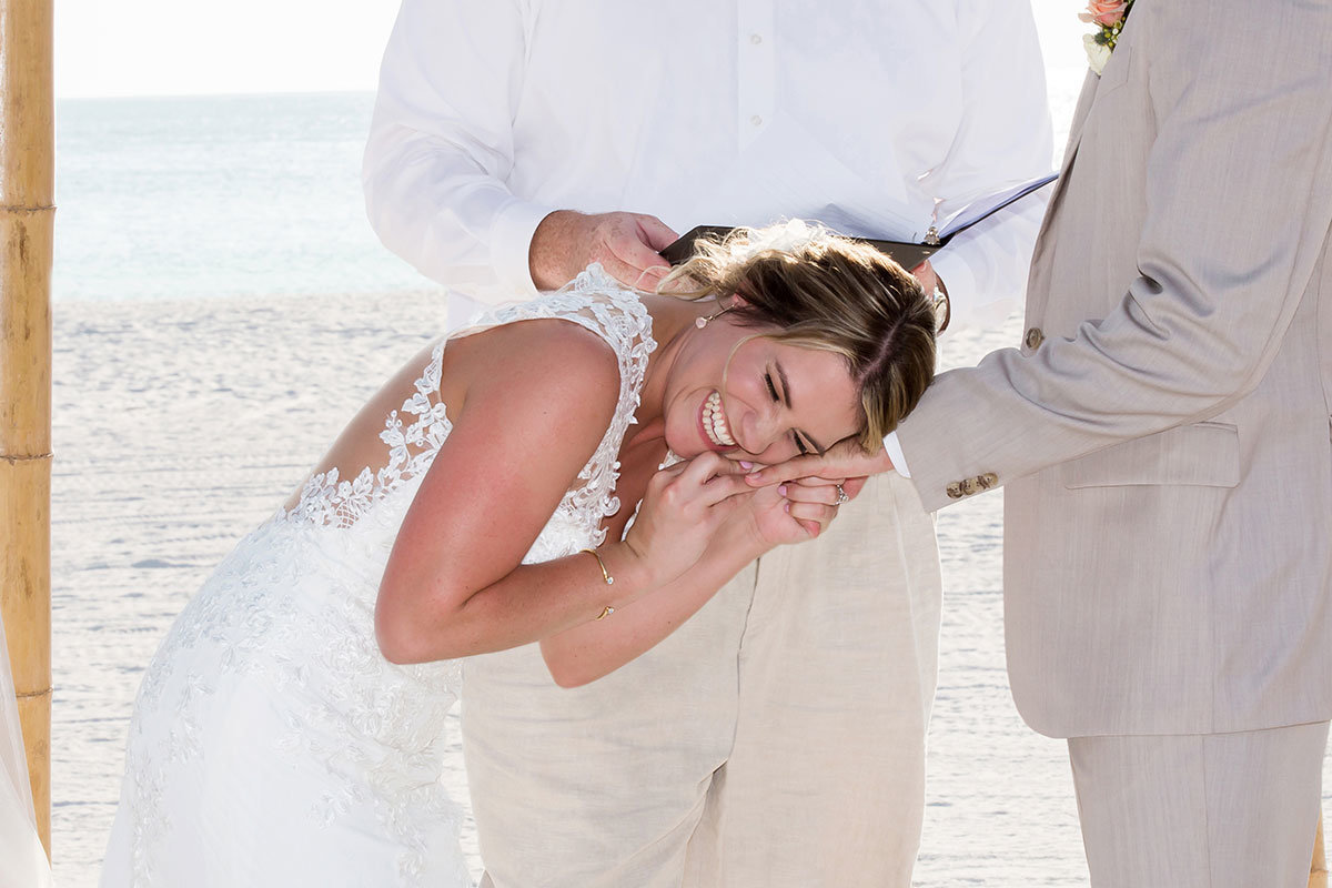 hilton marco island beach wedding photo