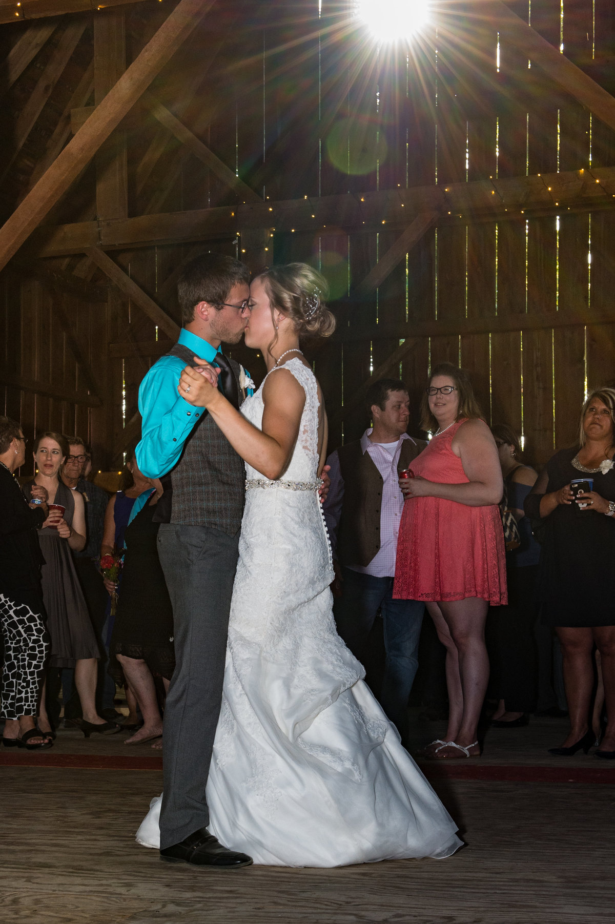 first dance with sun leak in barn