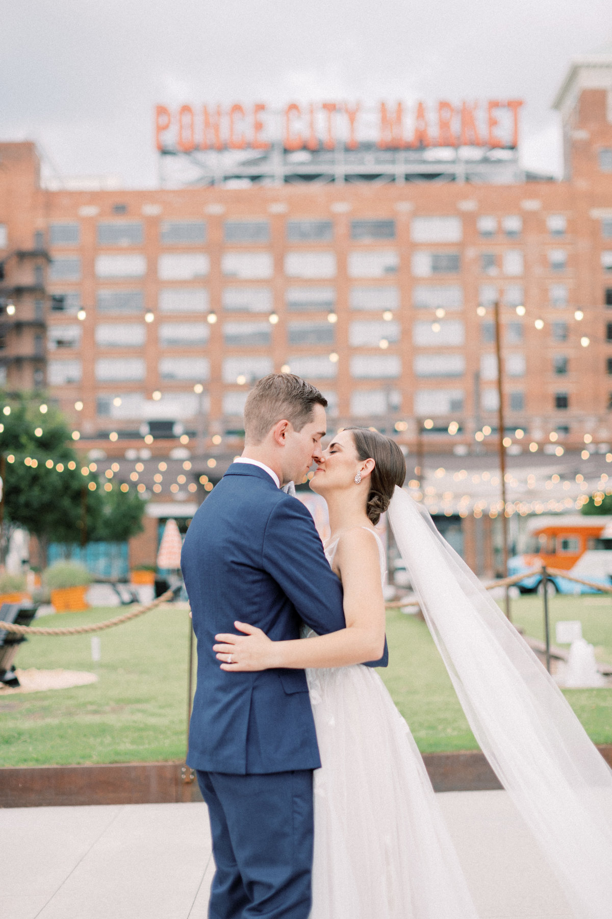 Ponce City Market Roof Top Terrace Wedding