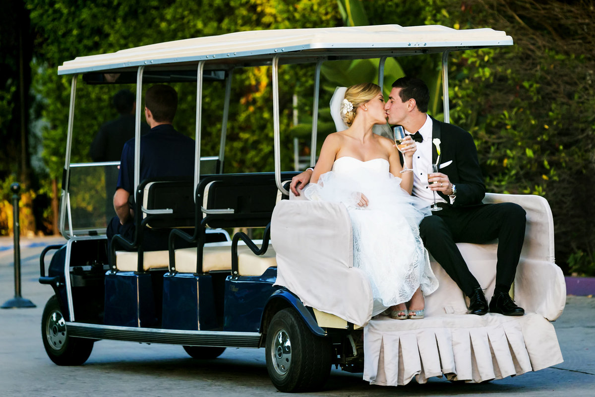 couple kiss luxury santa barbara wedding bacara resort