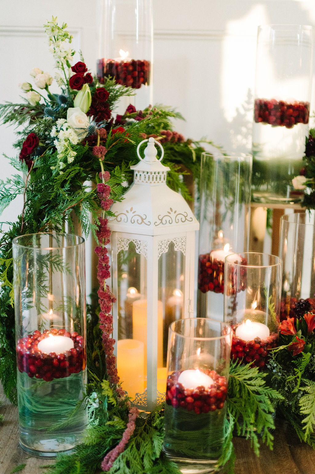 Beautiful Lantern with Candle Vases for Arkansas Wedding / Tyler Rosenthal Photography
