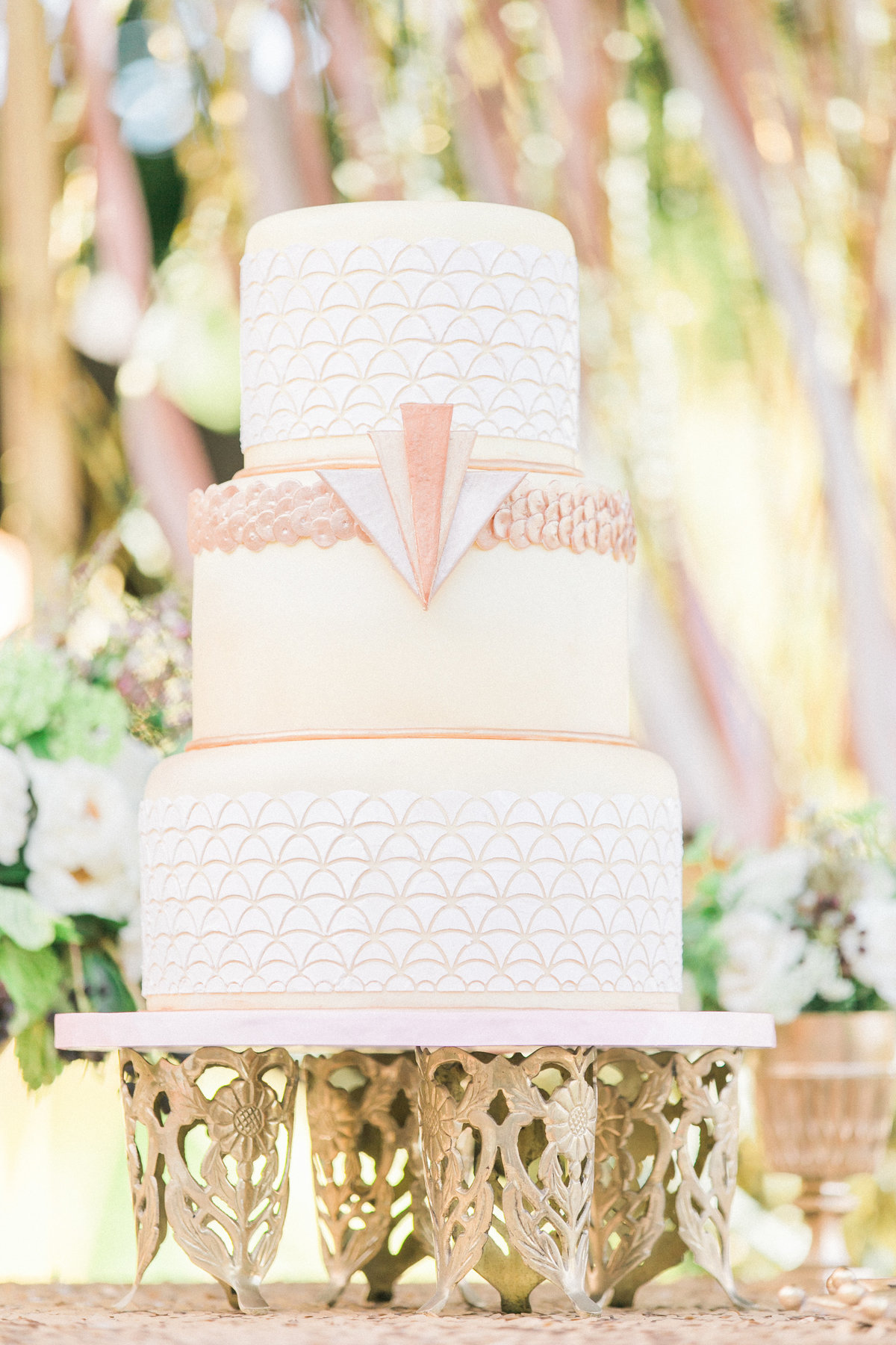 Gatsby Inspired Wedding Cake Design A Cake Life