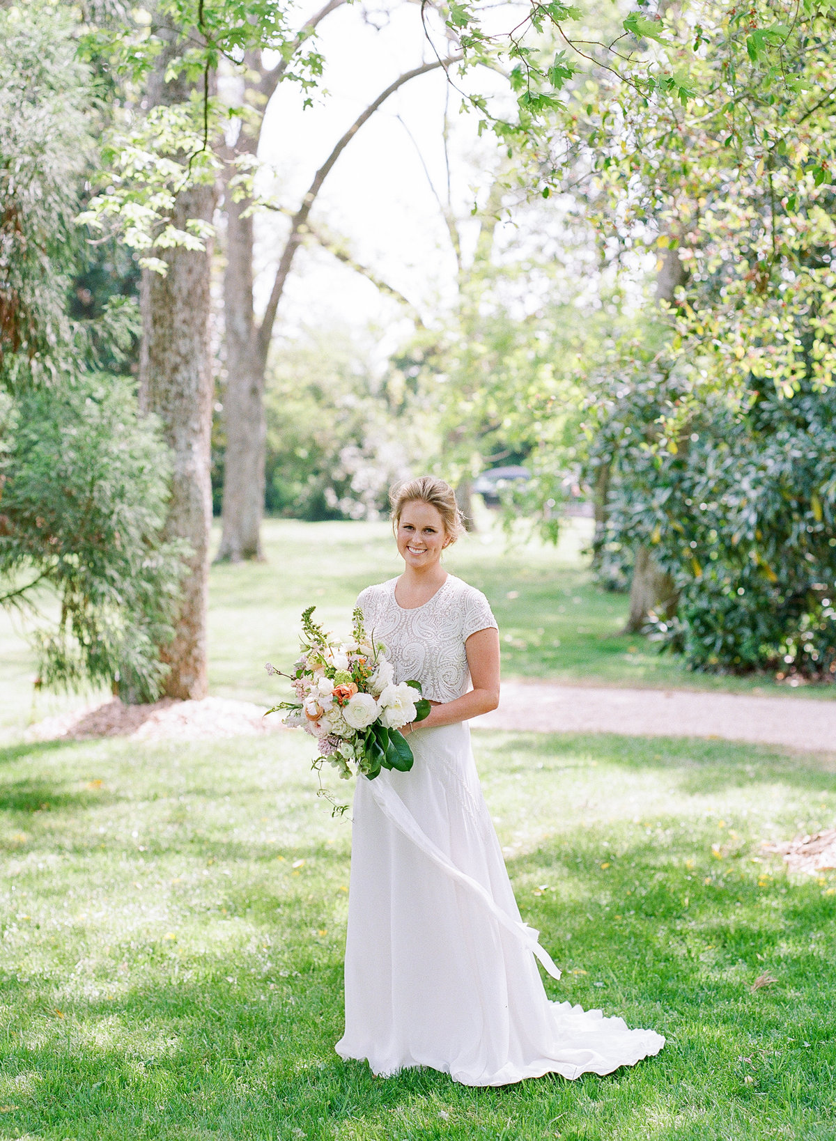 Southern Bride in Two Piece Gown