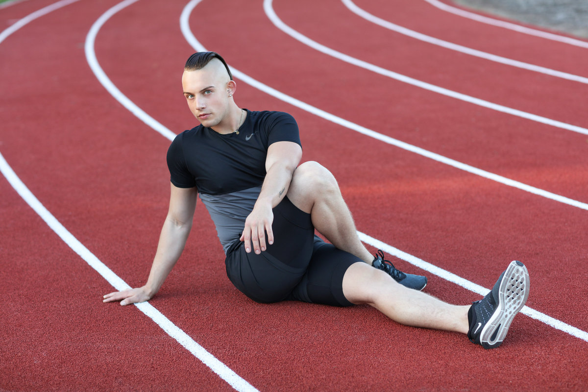 Fitness Photography on a Track and Field, Palo Alto, Bay Area
