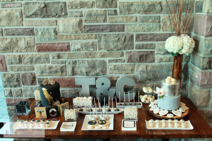 modern marble sweets table - Redstone Winery wedding