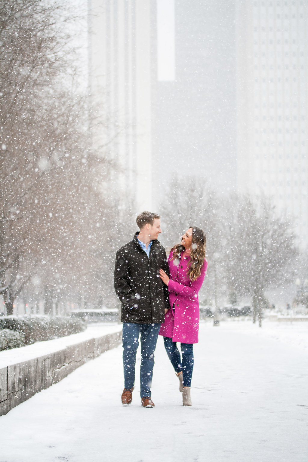 Millennium Park Chicago Illinois Winter Engagement Photographer Taylor Ingles 13