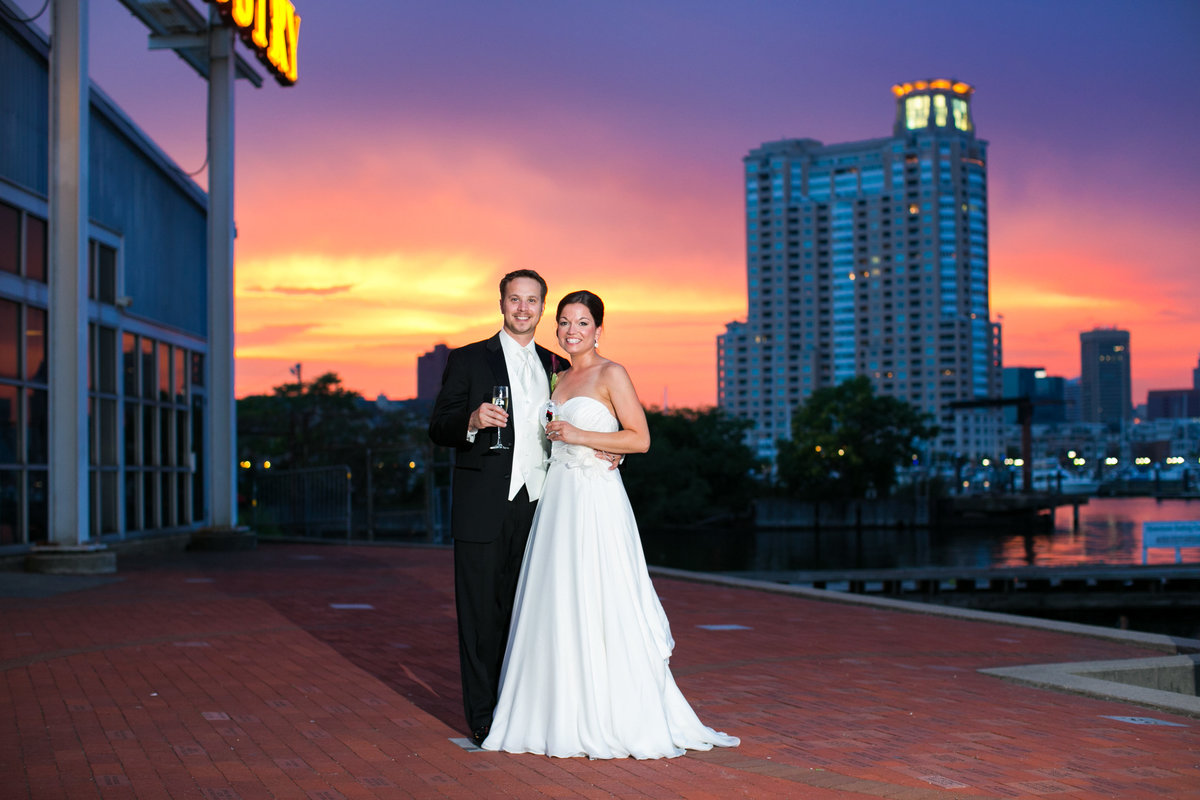 Sunset at Baltimore Museum of Industry Wedding