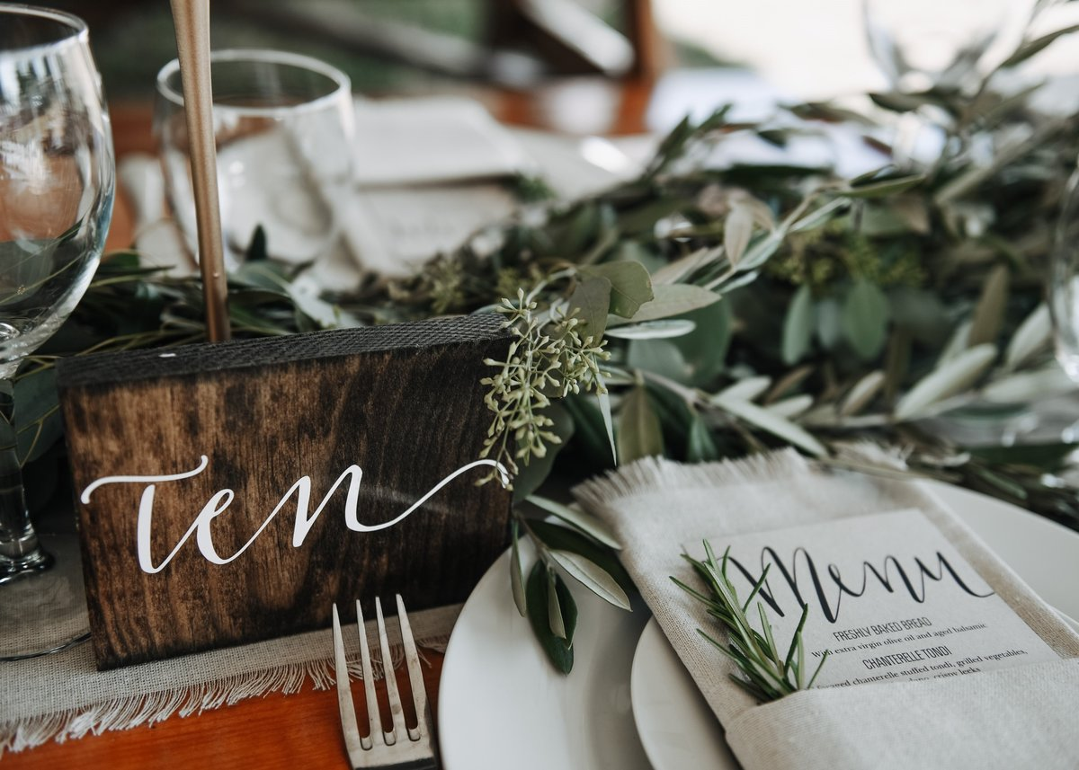 Olive and Eucalyptus foliage table garland