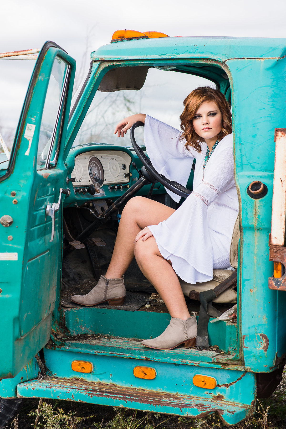 Senior Session Country Truck