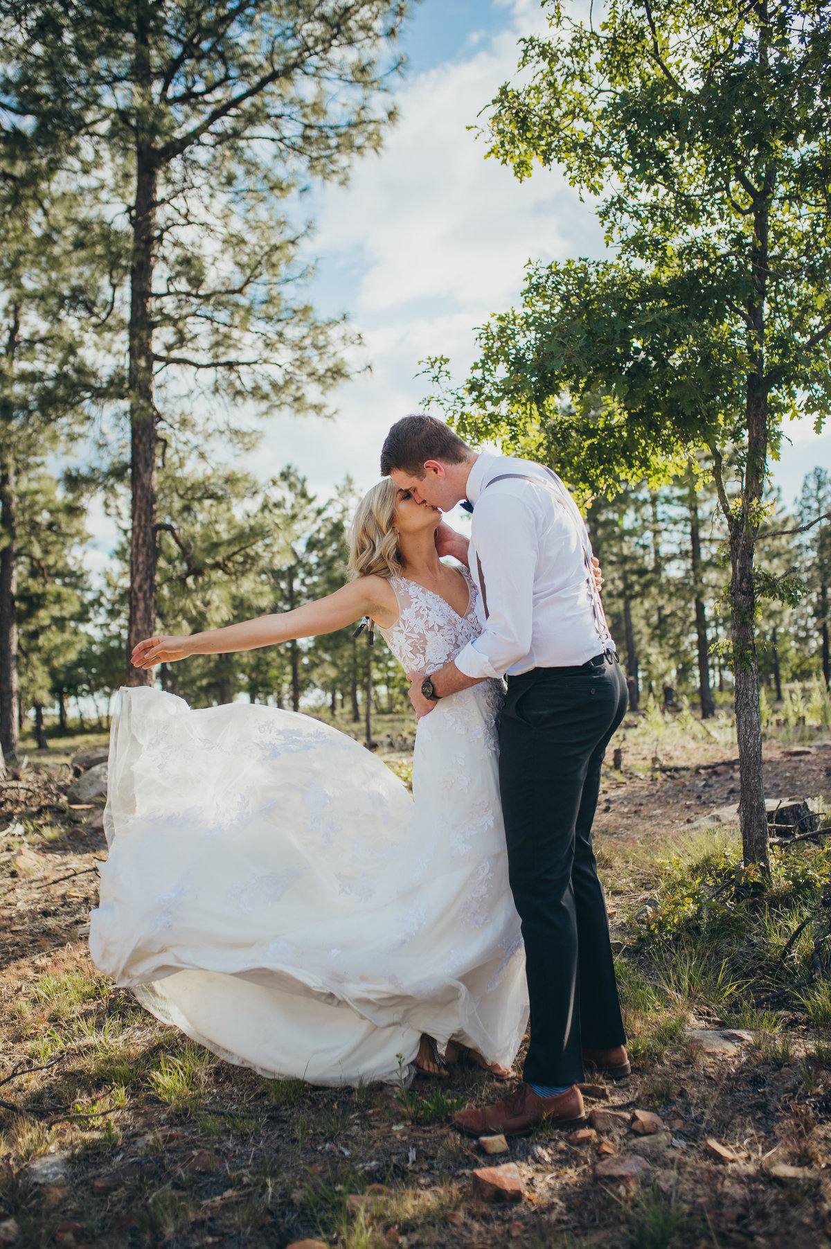 A little wedding on the Mogollon Rim near Payson, Arizona