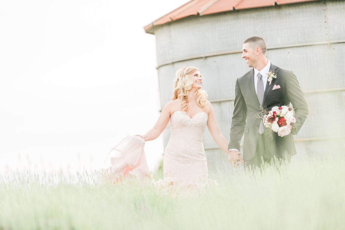 Lavender Farm Wedding Photo