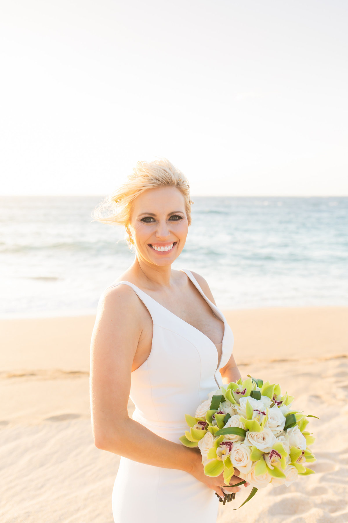 Maui wedding photography - bride with bouquet
