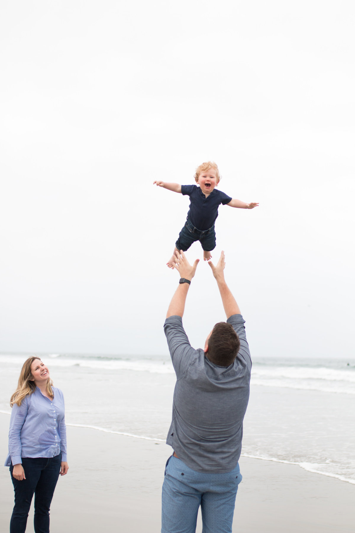 Beach family photography session