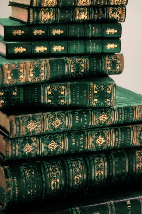 green and gold books (1)