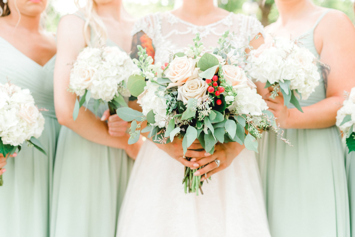 bright and cheery bridal bouquets