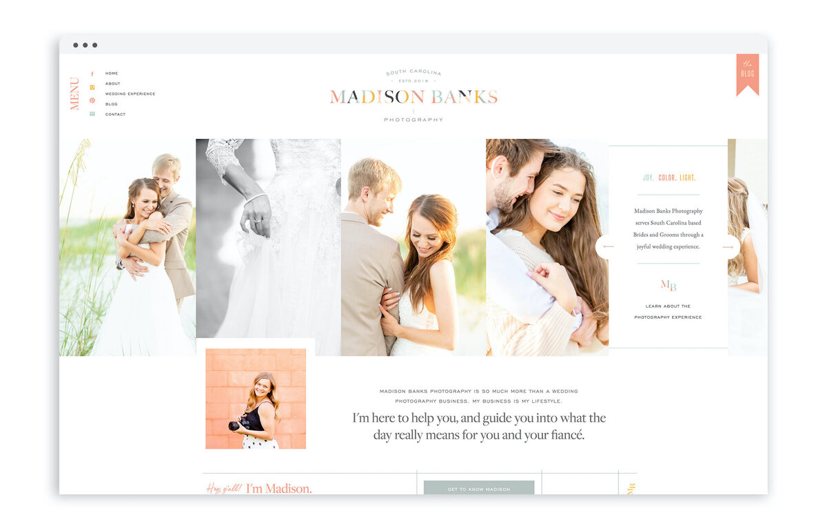 Madison Banks Photography - Custom Brand Logo and Showit Web Website Design Designs Designer for Photographer Photographers Creative Small Business Owners - 7