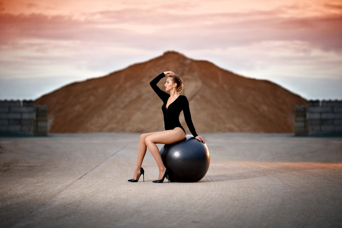 Natalie Setareh Makeup Artist Kylie Minogue Inspired Shoot Exercise Ball