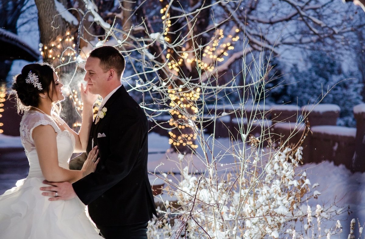 winter wedding at villa parker