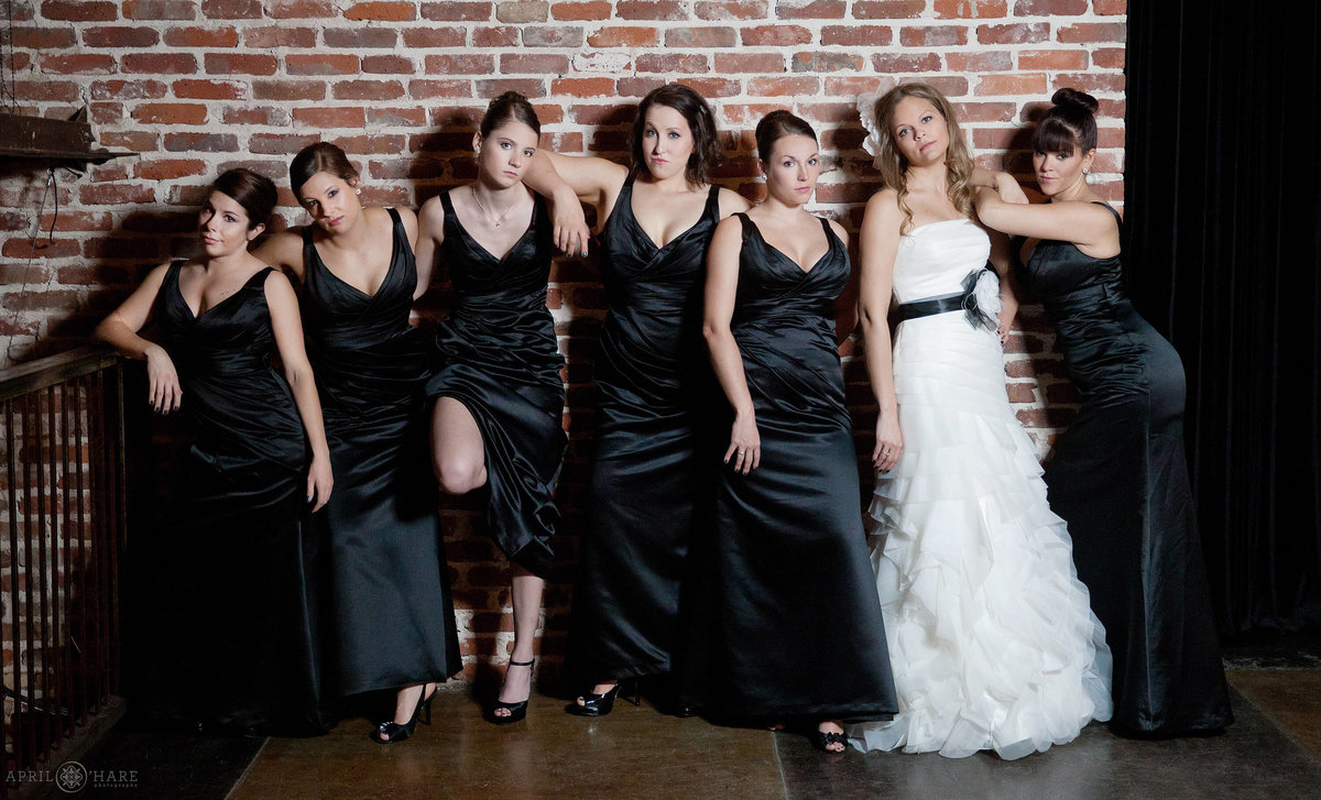 Bridesmaids Movie Wedding photo recreation at Mile High Station